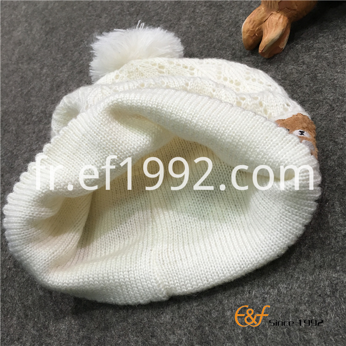 Mohair Knitted Girl Hat