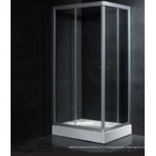 Cabine de douche encadrée avec plateau (LLA1000-4D)