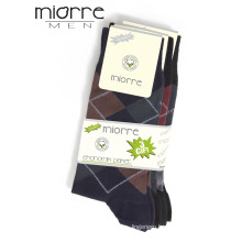 Miorre OEM Wholesale Plaid Patterned Breathable Cotton Men Socks