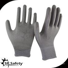 SRSAFETY 13 Guage PU с перламутровым покрытием из нейлоновой перчатки / рабочие перчатки