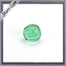 Granos de cristal color esmeralda de 10 mm de gran tamaño