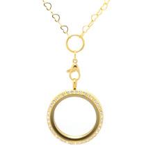 Горячие продажа нержавеющей стали кулон новые золото сердце цепочка ожерелье