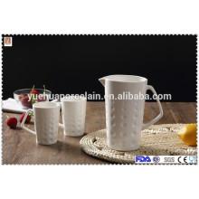 Jarra de água de cerâmica quente venda com copo