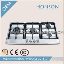 Design de moda em aço inoxidável 4 Queimador Fogão A Gás