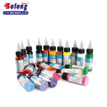 Solong Tattoo Supplies 21colors Tattoo Ink Set 30ml/bottle permanent hot sale manufacturer tattoo ink