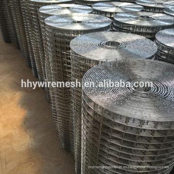 Rollos y paneles de malla soldadas galvanizados en caliente de acero inoxidable