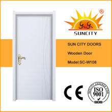 White Painting Room Door, Simple Wooden Door