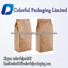 Sacos de papel de dobradura feitos-à-medida de Kraft do feijão de café do logotipo