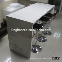 Modern consola de acrílico mesa de salão com armação de metal