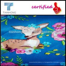 Олень печати хлопок сатин/60JC мультфильм печатных саржевого пигмент сатин для сатиновое постельное белье/печатных постельные ткани