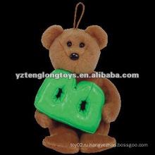 """Прекрасный с буквой """"B"""" Коричневый плюшевый Мягкие игрушки для медведей"""