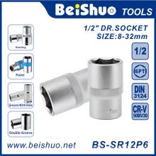 "1/2 ""Drive Drive Socket de Chrome Vanadium Steel Hand Tool"