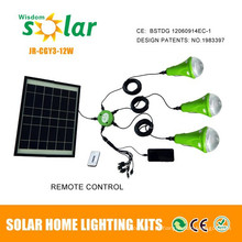 Diodo emissor de luz Solar com carregador móvel para iluminação interna em Casa Rural