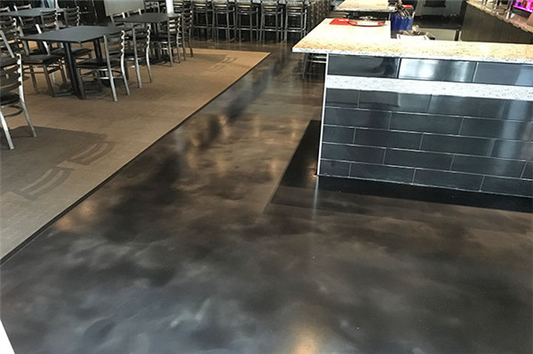 Commercial art concrete floor