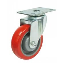 Roulette pivotante pivotante PU (rouge)