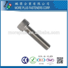Fabriqué à Taiwan en acier inoxydable DIN912 M2 Hex Screw Cap Screw