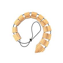 Hersteller-Hals-Krawatte gravierte kundenspezifische Logo-Zebra-hölzerne Bindung