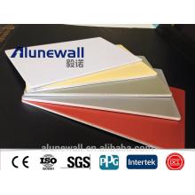 Panneaux solides en aluminium de revêtement intérieur / extérieur de mur panneaux en aluminium composés