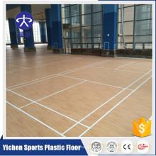 Plancher de plancher de badminton de plancher de sports de PVC de haute qualité