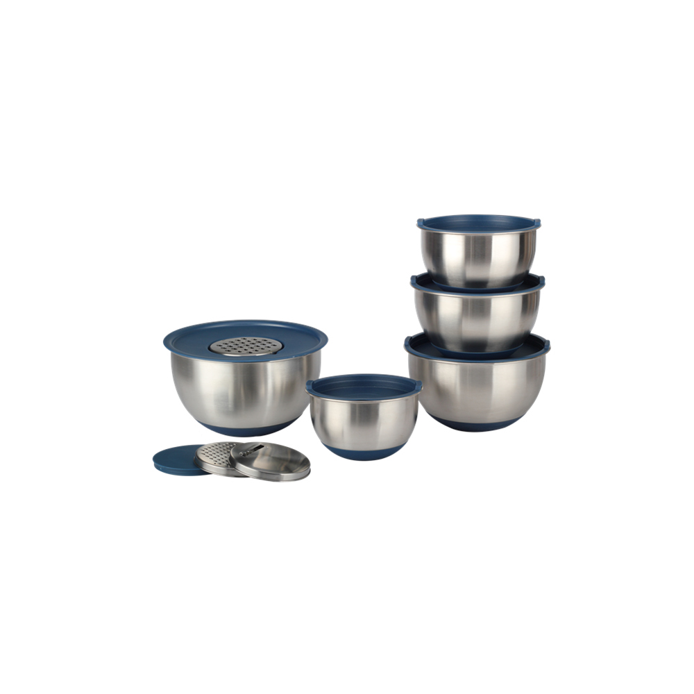 Stainless Steel Mixing Bowl With Grater