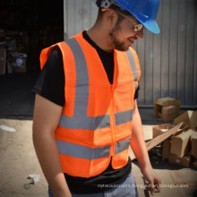 En20471 High Visibility Roadway Reflective Vest Safety Clothes