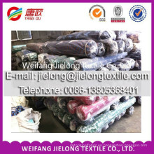 Sarga gruesa de algodón tela stock teñida perforada para la ropa