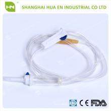 Hochwertiges maßgeschneidertes PVC IV Infusionsset für den einmaligen Gebrauch in China