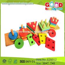 2015 Hot Sale Preschool Wooden Sorting Toy,Five Shapes Sorting Toy,Shape Sorting Board
