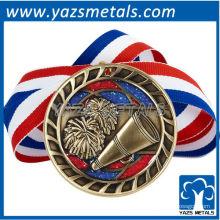personaliza medallas de metal, medalla de alegría de alta calidad personalizada con medallas de cinta