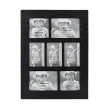 Черная многократная открытая рамка с 9 картинками