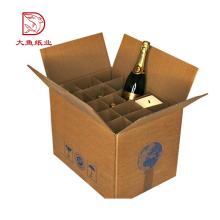 Professional custom made fashion paper custom printing cardboard wine box 12 bottle