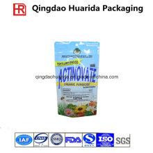 Bolsa de embalaje de fungicida de pie con cremallera y Hang Hole
