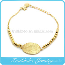 2016 Wholesale Gold With Beads Virgin Mary Charm Lengthen Bracelet Religious Gold Bead Catholic Bracelet