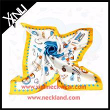 Señoras de la temporada de primavera que imprimen la bufanda de seda del diseño de encargo