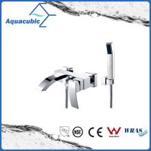Faucet de banho de latão cromado com suporte de parede com chuveiro de mão (AF6018-2)