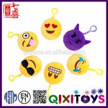 Decorativo encantador emoji llavero felpa 10 cm emoji llaveros venta caliente barato emoji llavero al por mayor