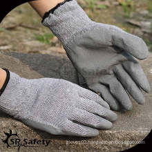 SRSAFETY 10G Knit polycotton liner latex coated glove with reasonable price/cheapest glove/grey latex coated working gloves
