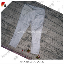 Wholesale white shiny snake pattern pants