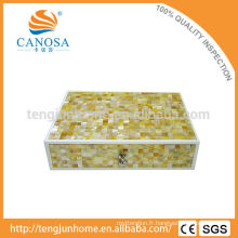 Hotel Amenity Luxury Golden Mother of Pearl Shell Box de rangement