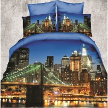 3D Duvet Cover Set /Soft Textile 3D Bed Sheet Set in a Bag/ Reactive Printing Cotton Bedding Set 3D