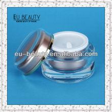 Kosmetik Sahne Glas Acryl leere Gläser Kunststoff Kosmetik Verpackung 30g