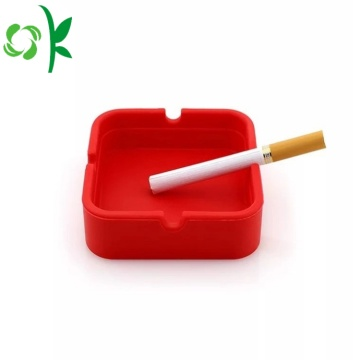 Silikon Eco-friendly Kustom Square Cigar Asbak