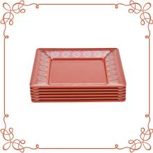 Набор из 6 квадратных меламиновых пластин 10,5 дюйма