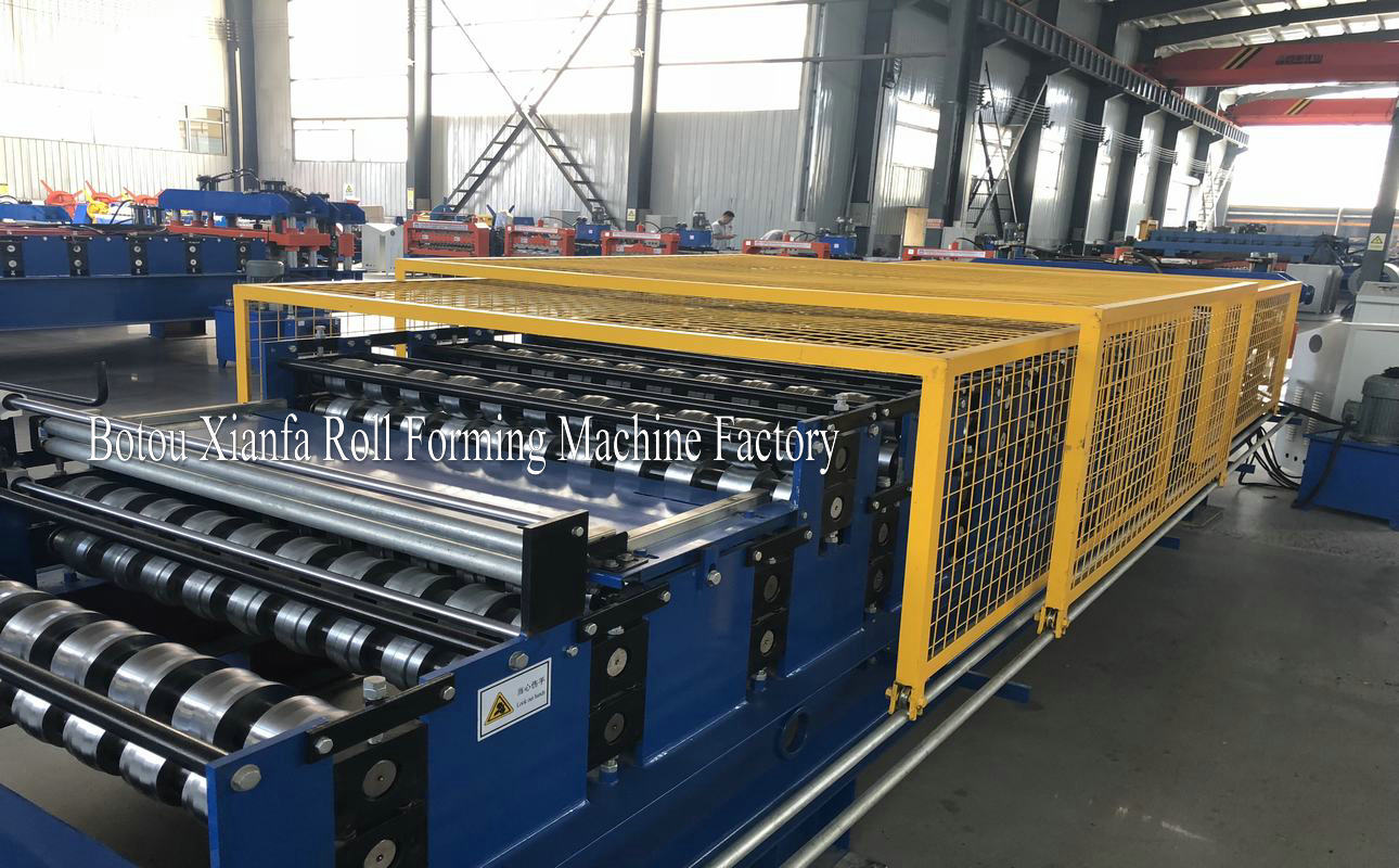 new type double deck roll forming machine