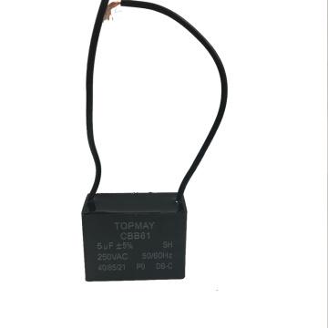 5UF + 5% Capacitor de Ventilador Cbb61 250VAC com Boa Qualidade e Melhor Preço