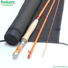 Yellow Yr764-3 Quality Made Moderate Classic Fiberglass Fly Rod