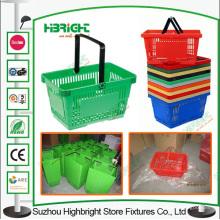 Centre commercial transporter supermarché en plastique, panier