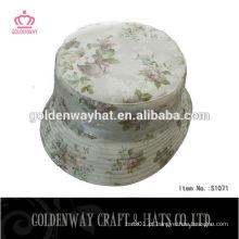 Chapéu colorido do balde do sol das mulheres da flor colorida