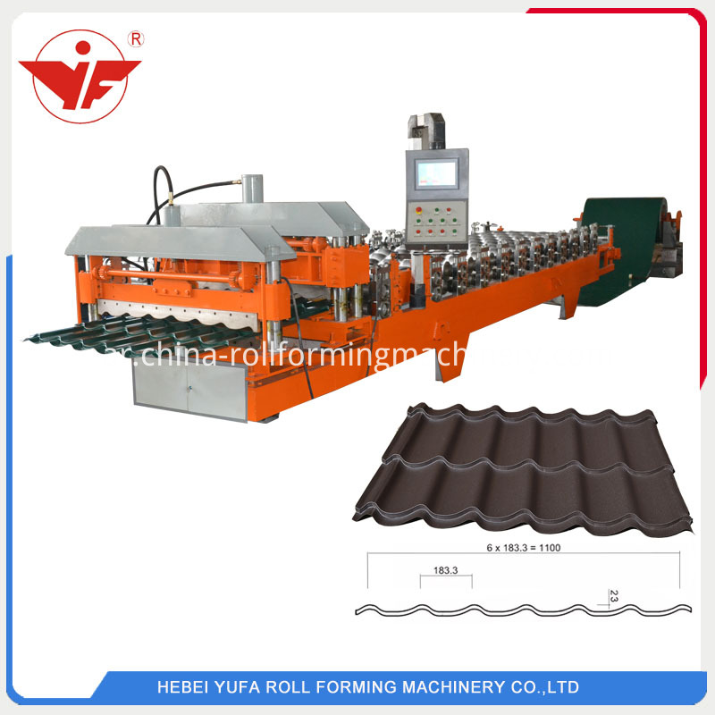 1100 Glazed Roll Forming Machine