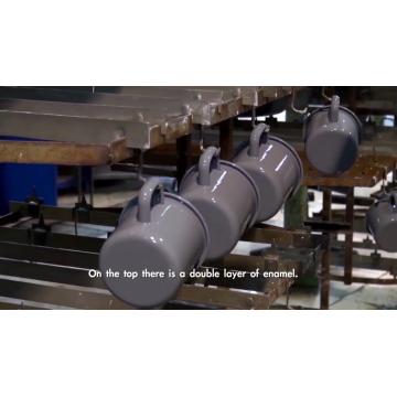 Großhandel benutzerdefinierte Logo gedruckt Stahl Metall Emaille Tasse